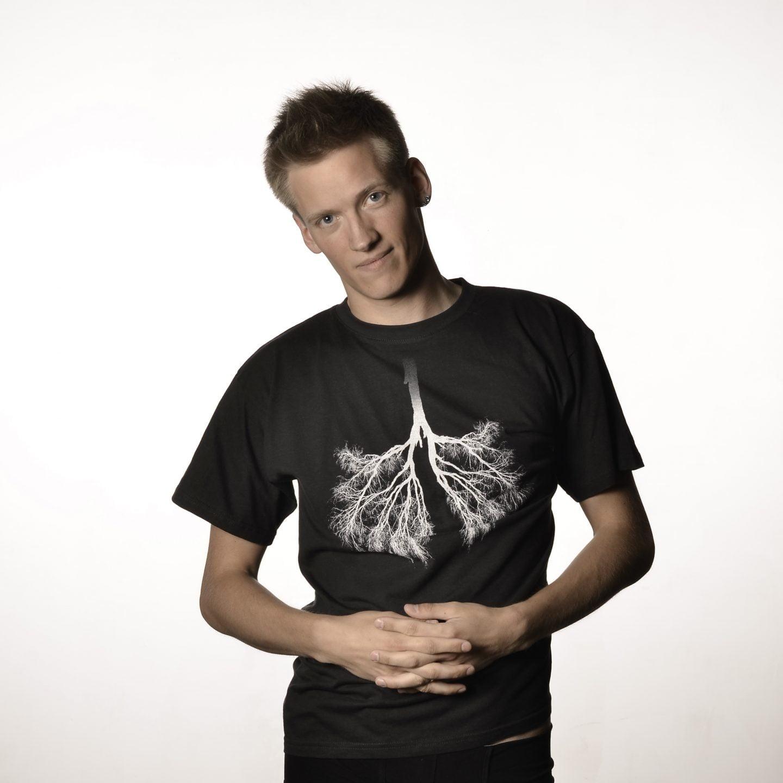 marškinėliai su medžiau (plaučiais)