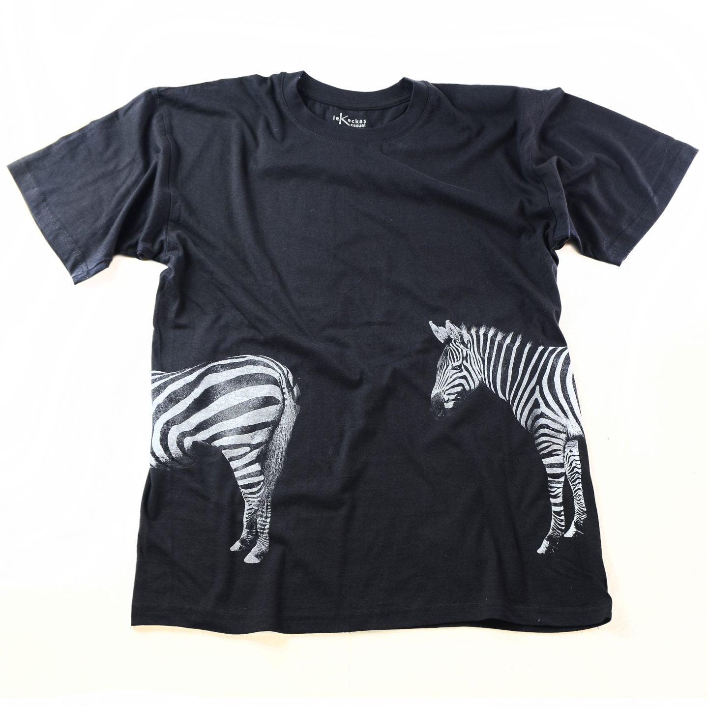 marškinėliai su zebru